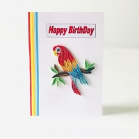 Happy Birthday Parrot Design Card